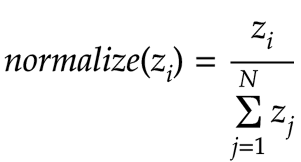 normalize output