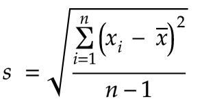 standard deviation s formula  The Geometry of Standard Deviation